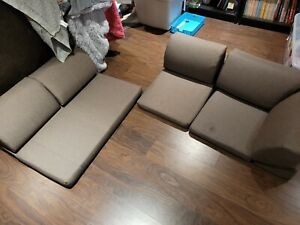 Japanese Floor Sofa 3 Piece set from Japan (located in Canada)