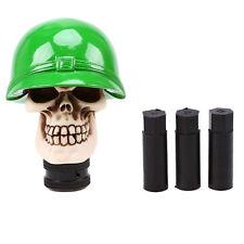 Car Manual MT Stick Shift Gear Knobs Shifter Lever Universal Green Helmet Skull