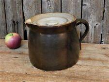 AAFA Early Antique Stoneware Crock Pitcher Lidded Pot - Rare