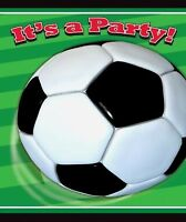 3D SOCCER INVITATIONS PACK OF 8 PARTY INVITES