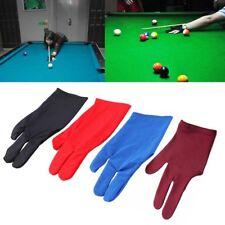 Biliardo Guanto Di Tre Dita Mano Destra Tessuto Elastico Snooker Sport Accessori