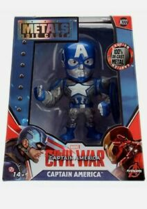 "METALS DIE CAST - Marvel Civil War - Captain America 4"" Figure"