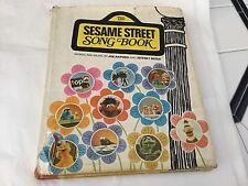 Vintage 1st Ed. 1971 Sesame Street Song Book Hardcover Dust jacket
