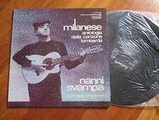 NANNI SVAMPA Milanese LP GATEFOLD ITALIAN FOLK MICHELE STRANIERO