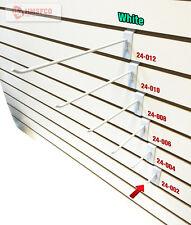 "2"" Slatwall Metal Hooks (24-002WH) - 25 Piece - White (NEW)"