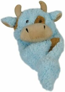 Hugglehounds Soft Baby Plush Comfy Cozy Cow Dog Toy Triple Layered Stitch 12""