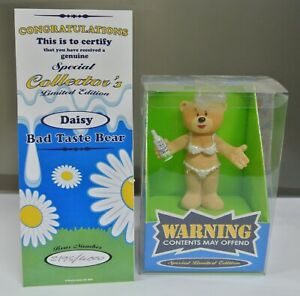 LIMITED EDITION BAD TASTE BEAR FIGURE WITH COA FOR APRIL 2004 - DAISY - NO 80.