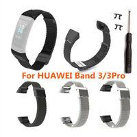 Für Huawei Band 3/3 Pro Watch Luxus Stainless Steel Ersatz Uhrenarmband strap