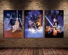 Oil Painting HD Print Wall Decor Art on Canvas Movie Star Wars 3pcs Unframed