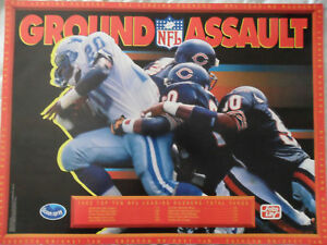 NFL Football Poster ~ 1992 Frito Lay Promo Barry Sanders Detroit Lions
