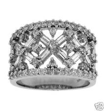 1.48ctw Round & Baguette Right Hand Ring 14K White Gold
