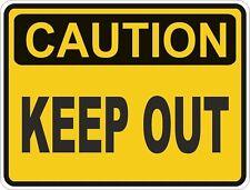 1x CAUTION KEEP OUT WARNING VINYL STICKER CAR BUMPER
