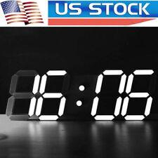 Modern Digital LED Table Desk Night Wall Clock Alarm Watch 24 12 Hour Display ET