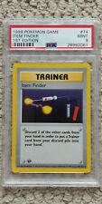 Pokemon Item Finder 74/102 1st Edition Base Set PSA 9 TCG Game 1999 Shadowless