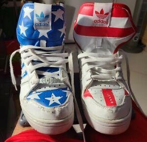 Jeremy Scott Adidas Wings 2.0 Stars and Stripes US Flag 8 1/2 Size
