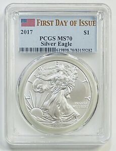 2017 $1 Silver Eagle PCGS MS70 First Day of Issue
