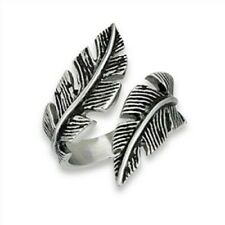 Stainless Steel Double Feather Ring - Free Gift Packaging