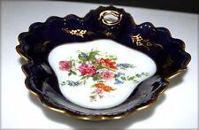 Petite coupelle murale en forme de coeur en porcelaine de Limoges
