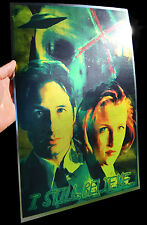 The X-files Mulder and Scully rare METALLIC FOIL PRINT 11x17