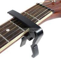 Kapodaster Capodaster Kapo Capo Elektro Akustik für Gitarre Guitar Clamp Schwarz