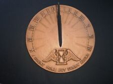 """Cast Iron Virginia Metalcrafters Garden Sundial """"I Count Only Sunny Hours"""" 9.25"""""""