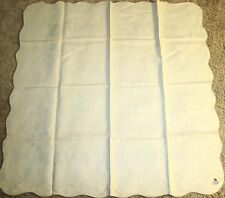 "Vintage 100% Belgian Linen Tablecloth Stamped for Embroidery 42"" x 42"""
