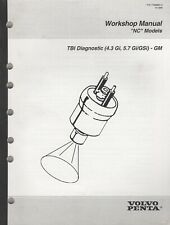 "1996  VOLVO PENTA ""NC"" TBI DIAGNOSTIC (4.3 Gi,5.7 Gi/GSi) WORKSHOP MANUAL (994)"