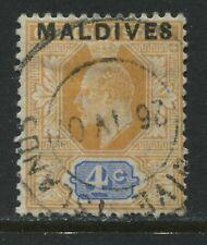 Maldives overprinted KEVII 1906 4 cents used