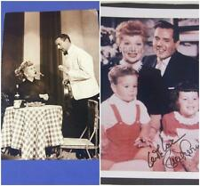 I Love Lucy Lucille Lot 2 Orig RPPC Paris At Last 1956 Episode 145, Family Photo