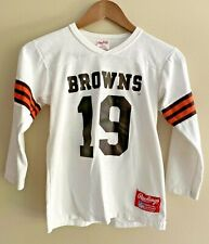Vintage 70s Cleveland Browns Rawlings Youth Large  Football Jersey USA