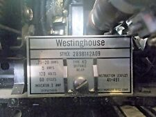 Westinghouse 289B142A09 Type KD Distance Relay .75-20 OHMS 5 Amp 120 V