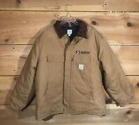 Carhartt Artic Quilt Lined Duck Jacket Coat Mens Size 2XL Duck Canvas Brown