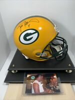 Authentic Brett Favre Autographed Full Size Replica Football Helmet Hologram