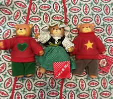 Vintage Lucy & Me Bears Set of 3. Enesco 1985, 1984, Ready For Christmas Holiday