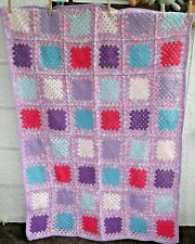 Large Hand Made Lap Blanket/Throw 68 x 44 inches (172 x 112 cm)