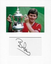 More details for manchester united bryan robson genuine authentic autograph signature aftal coa