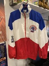 rare Vtg 90s Delong Nhl 1994 New York Rangers Stanley Cup Windbreaker Jacket