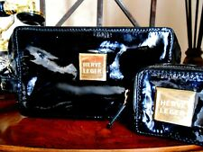 Authentic Herve Leger Patent Leather Jewelry Bag + Coin Purse New Without tags