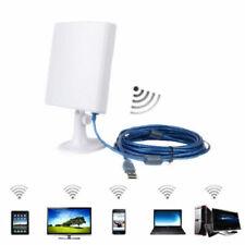 Exterior Largo Alcance USB Wifi Inalámbrica Adaptador + Antena 5m Cable