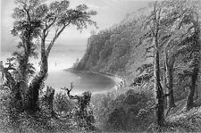 QUÉBEC (Nouvelle France)- L'ANSE au FOULON (WOLFES COVE) - Gravure du 19e siècle
