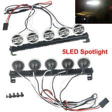 5 LED Metal Roof SPOT Light Bar For SCX10 D90 TRX-4 Wraith 1/10 RC Rock Crawler