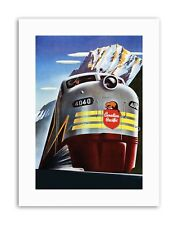 Canadian Pacific Rail MOUNTAIN Canada Train Poster Vintage Sport Toile Art