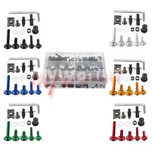 Fit For Suzuki GSXR600 GSXR750 GSXR1000 GSX Screws Kit Complete Fairing Bolt Set