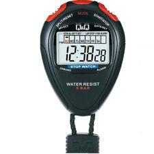 Cronometro Professionale Stopwatch Q&Q By Citizen Resistente All'Acqua 5 BAR