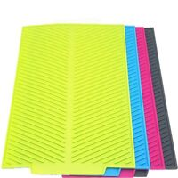S/L Silicone Drying Mat Fast Drying Dishes Kitchen Rectangle Heat Resist Trivet