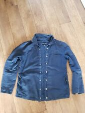 Armani Blue Cotton/Hemp Lightweight Jacket Size L