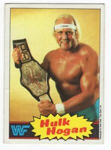 1985 Topps WWF WWE Pro Wrestling Hulk Hogan Yellow Rookie RC Card #1 *READ*