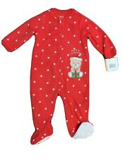 MY FIRST CHRISTMAS FOOTED PAJAMAS By Little Me - 12 Mos - SANTA BEAR