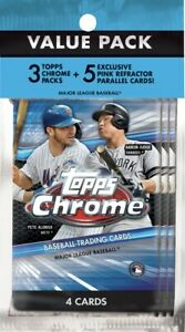 2020 Topps Chrome Baseball Value Cello Pack New