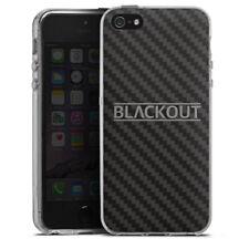 Apple iPhone 5s Silikon Hülle Case - Carbon - Blackout